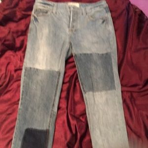 Free people patchwork jeans size 27 button fly